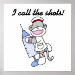 Sock Monkey Nurse I Call the Shots Gifts