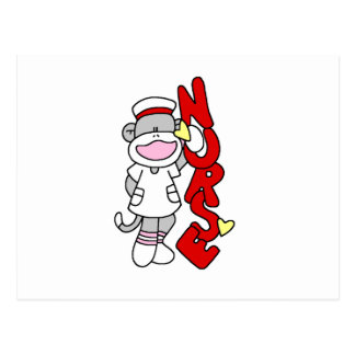 Sock Monkey Nurse T-shirts and Gifts Postcard