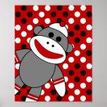 Sock Monkey Nursery Wall Art