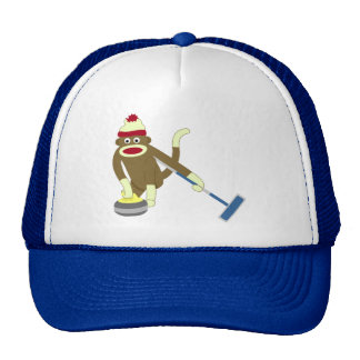 Sock Monkey Olympic Curling Cap