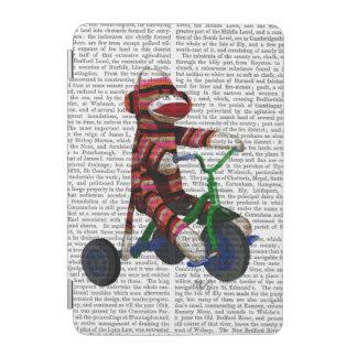 Sock Monkey on Tricycle iPad Mini Cover