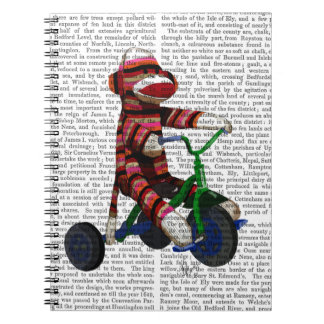 Sock Monkey on Tricycle Notebook