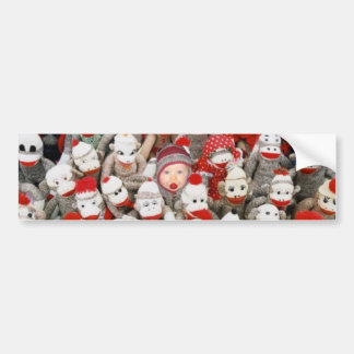 Sock Monkey Party Bumper Sticker
