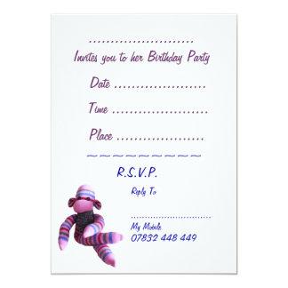 Sock Monkey Party Invitation