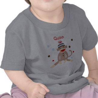 Sock Monkey Personalized Birthday Tshirt