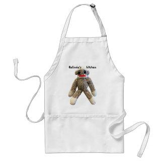 Sock Monkey Personalized Standard Apron