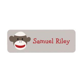 Sock Monkey Personalized Sticker