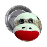 Sock monkey pin
