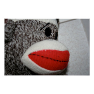 Sock Monkey Print