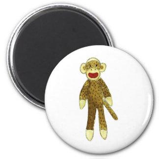 sock monkey red lips refrigerator magnet