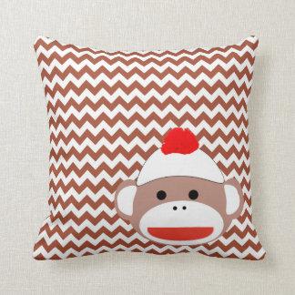 Sock Monkey Retro Art, Adorable! Cushion