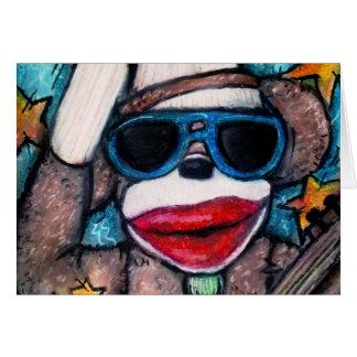 Sock Monkey Rock Star Card