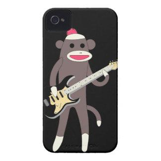 Sock Monkey Rocks w/ Electric Guitar - Iphone 4/4S Case-Mate iPhone 4 Case