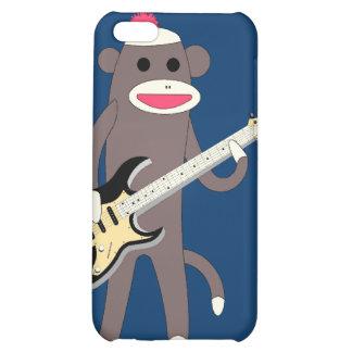 Sock Monkey Rocks w/ Electric Guitar - Iphone 4/4S iPhone 5C Cover