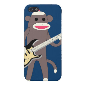 Sock Monkey Rocks w/ Electric Guitar - Iphone 4/4S Cover For iPhone 5