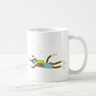 Sock Monkey Scuba Diver Coffee Mugs
