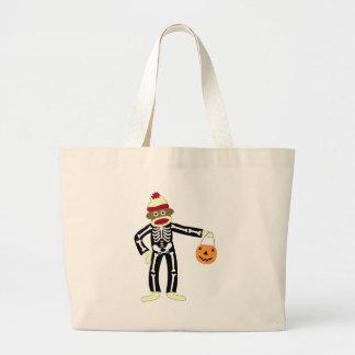 Sock Monkey Skeleton Halloween Bags