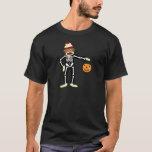 Sock Monkey Skeleton Halloween T-Shirt