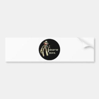 Sock Monkey Slurs Bumper Sticker