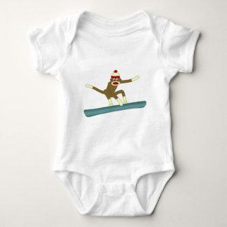 Sock Monkey Snowboarder T Shirt