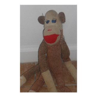 Sock Monkey Stationery