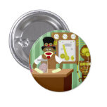 Sock Monkey Steampunk Scientist 3 Cm Round Badge