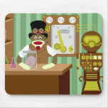 Sock Monkey Steampunk Scientist Mouse Pad