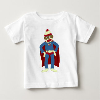 Sock Monkey Superhero Baby T-Shirt