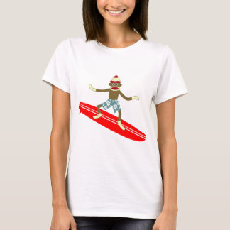 Sock Monkey Surfer T-Shirt