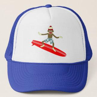 Sock Monkey Surfer Trucker Hat