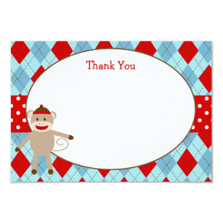 Sock Monkey Thank You Cards Personalized Announcements