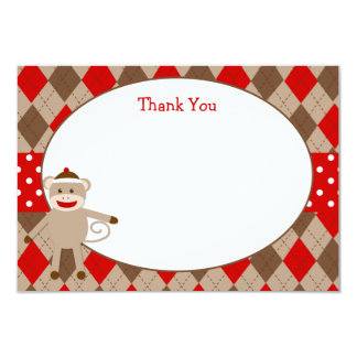Sock Monkey Thank You Cards Personalized Invitations