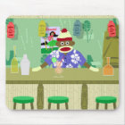 Sock Monkey Tiki Bar Mouse Mat