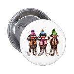 Sock Monkey Trio - See, Hear, Speak No Evil Button