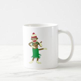 Sock Monkey Ukulele Coffee Mug