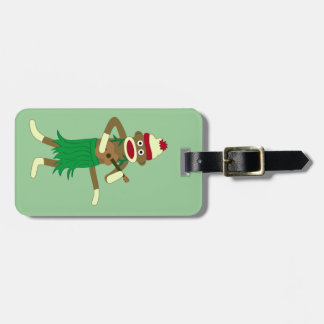 Sock Monkey Ukulele Luggage Tag