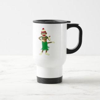 Sock Monkey Ukulele Travel Mug