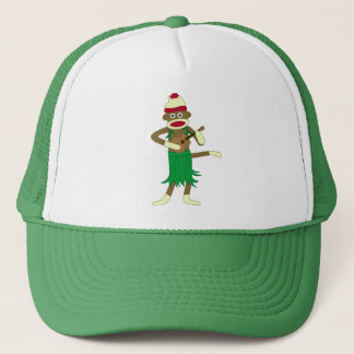 Sock Monkey Ukulele Trucker Hat