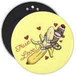 Sock Monkey Valentine Merchandise 6 Cm Round Badge