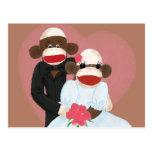 Sock Monkey Wedding(Bowty & Violet) Postcard