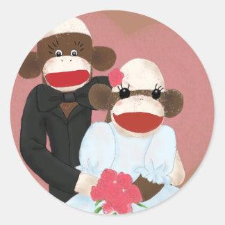 Sock Monkey Wedding(Bowty & Violet) Sticker