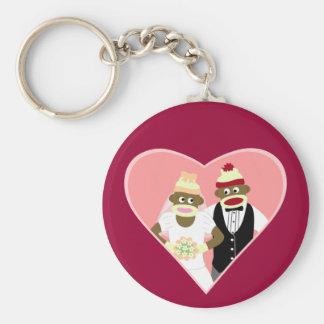 Sock Monkey Wedding Keychains