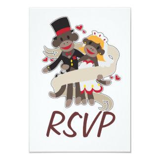 SOCK MONKEY Wedding RSVP Invitations Announcements