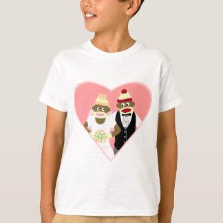 Sock Monkey Wedding T-Shirt