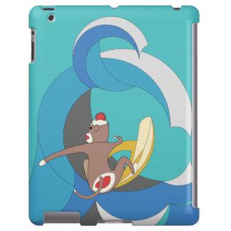 Sock Monkey went Surfing Bananas iPad Case