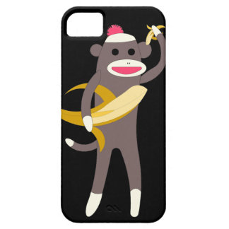 Sock Monkey with Banana Swords Case For The iPhone 5