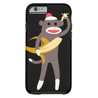 Sock Monkey with Banana Swords Tough iPhone 6 Case