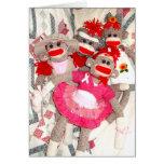 Sock Monkeys for the Cure Bunch of Friends Card