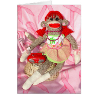 Sock Monkeys for the Cure Hawaii Cathy Card