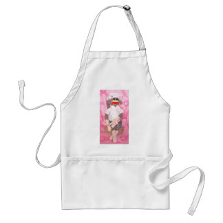 Sock Monkeys for the Cure Pink RibbonApron Standard Apron
